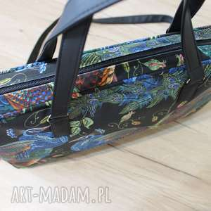 pomysł na prezenty święta nowoczesna torba na laptop - pawie