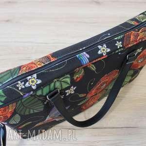 pomysł na prezent na święta torba na laptop - maki i kolorowe