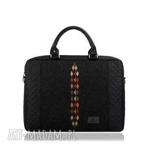 wyjątkowe pikowana torba na laptopa romby 452