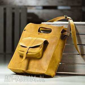 na laptopa aktówka torba skórzana ręcznie robiona