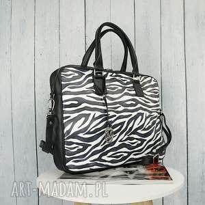 intrygujące manzana torba na laptopa zebra