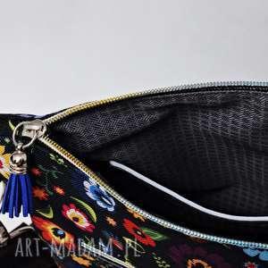 Uszyciuch czarne torebka na ramię listonoszka wodoodporna