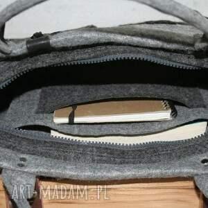 szare torba torebka, na laptopa