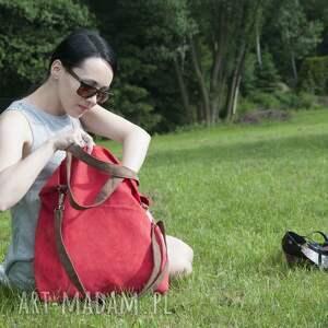 na ramię torba hobo xxl - czerwień