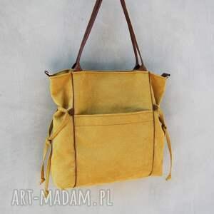 trendy na ramię duża amber - torba shopper