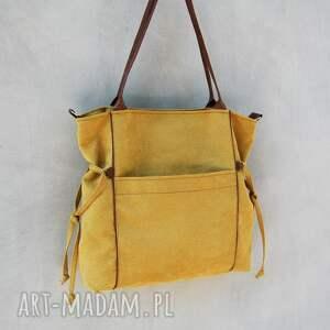 ręcznie wykonane na ramię duża amber - torba shopper