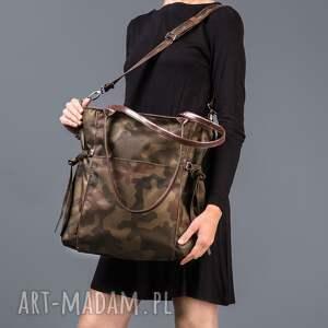 na ramię trendy amber - duża torba shopper moro
