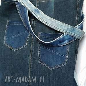 atrakcyjne na ramię bocho bardzo duża torba z jeansu