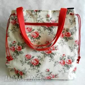 c4a573a576aa4 ... bawełniana torba na lato - romantyczne czerwone róże. na ramię róże  przedmiotem sprzedaży jest torba wykonana