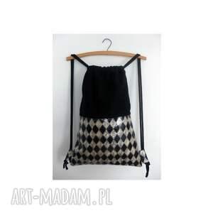 ręcznie wykonane na ramię plecak bbag szach mat skóra