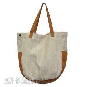 wyjątkowe na ramię markowe-torebki 24-0007 beżowo-złota torebka damska