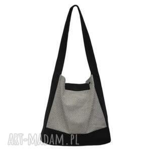 4cf7eb827183e frapujące na ramię duże-torebki-damskie 01 -0001 biało-czarna torba worek