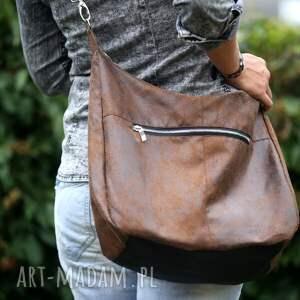 unikatowe na ramię torebka brązowa torba w kształcie worka