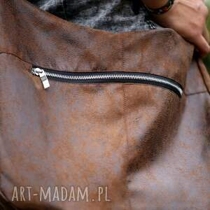 brązowe na ramię torebka brązowa torba w kształcie worka