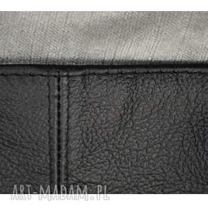 czarne na ramię skórzane 16-0030 czarna duża torebka damska