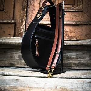 ręcznie wykonane na ramię torba skórzana vintage czarna stylowa torebka do pracy