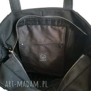 na ramię torebka na zamek czarna torba na brezent