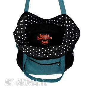 intrygujące na ramię torba do pracy czarna damska