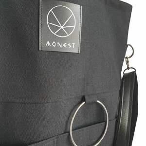 torebka na zamek na ramię czarna torba na city noise