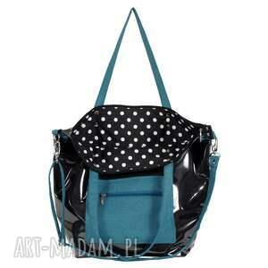 efektowne na ramię pojemna-torba czarna torba damska