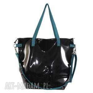 pojemna-torba na ramię czarna torba damska