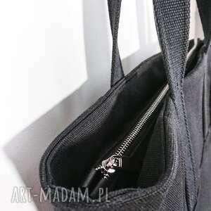 frapujące na ramię torebka na zamek czarna torba na brezent