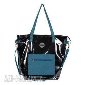 czarne na ramię torebka-damska czarna torba damska