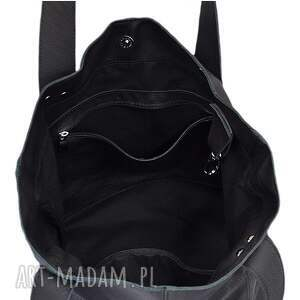b9b0941b891a3 na ramię modne 31 -0015 czarna torebka ze skóry