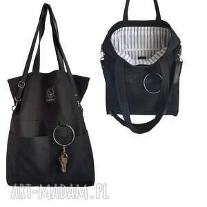 czarne na ramię czarna torebka na zamek city noise