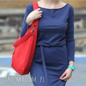 ręcznie wykonane na ramię czerwony worek czerwona torebka