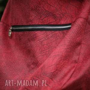 czerwone na ramię torba listonoszka czerwona torebka