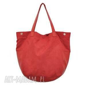 e8fdf66bf7ee5 trendy na ramię duże 24 -0008 czerwona torebka damska