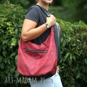 intrygujące na ramię torba listonoszka czerwona torebka