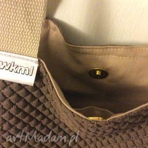 brązowe na ramię pikowana bbb czyli duża brązowa torba