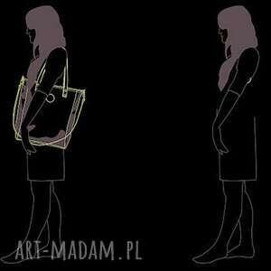 hand made na ramię wodoodporna damska torebka cuboid jasnoszara z