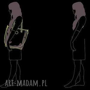 hand made na ramię wodoodporna damska torebka cuboid jasnoszara