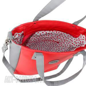 wodoodporna na ramię damska torebka cuboid jasnoszara z