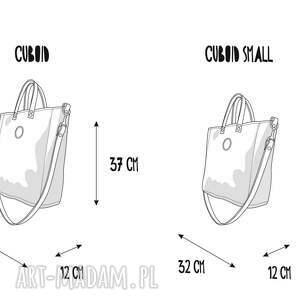 na ramię wodoodporna damska torebka cuboid jasnoszara z