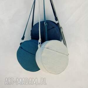 na ramię listonoszka dotti - okrągła torebka