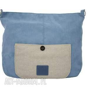 nietuzinkowe na ramię torba na duża listonoszka blue navy