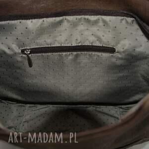na ramię torebka duża listonoszka brown snake