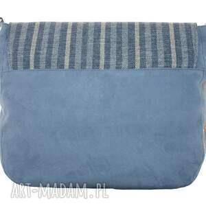 niebieskie na ramię torba duża listonoszka blue navy