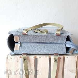 ręcznie wykonane na ramię z filcu duża pojemna torebka catoolabel