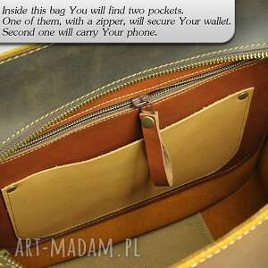 na ramię shopperka duża pojemna torba ze skóry