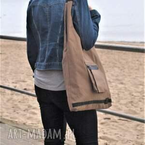 na ramię: Duża pojemna torba siatka - prezent na ramie