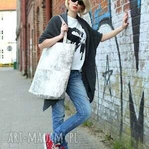 awangardowe na ramię jasna-torba duża prostokątna torba