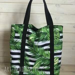ręcznie robione na ramię liście duża torb miejska