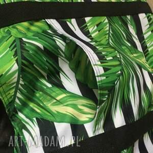 liście na ramię zielone duża torb miejska