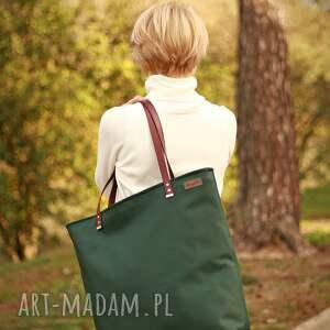 trendy na ramię torba na duża - zieleń