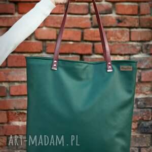 trendy na ramię shoperbag duża torba - zieleń
